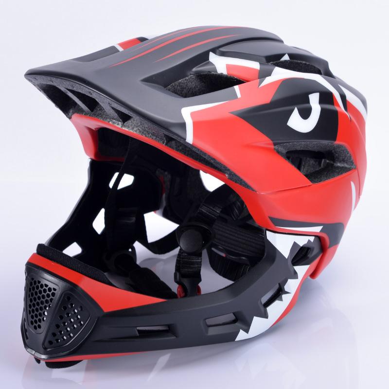 Bicycle Helmet Children Balance Bike Full Helmet Integrally-molded Outdoor Cycling Accessories Bike Helmet red_Free size