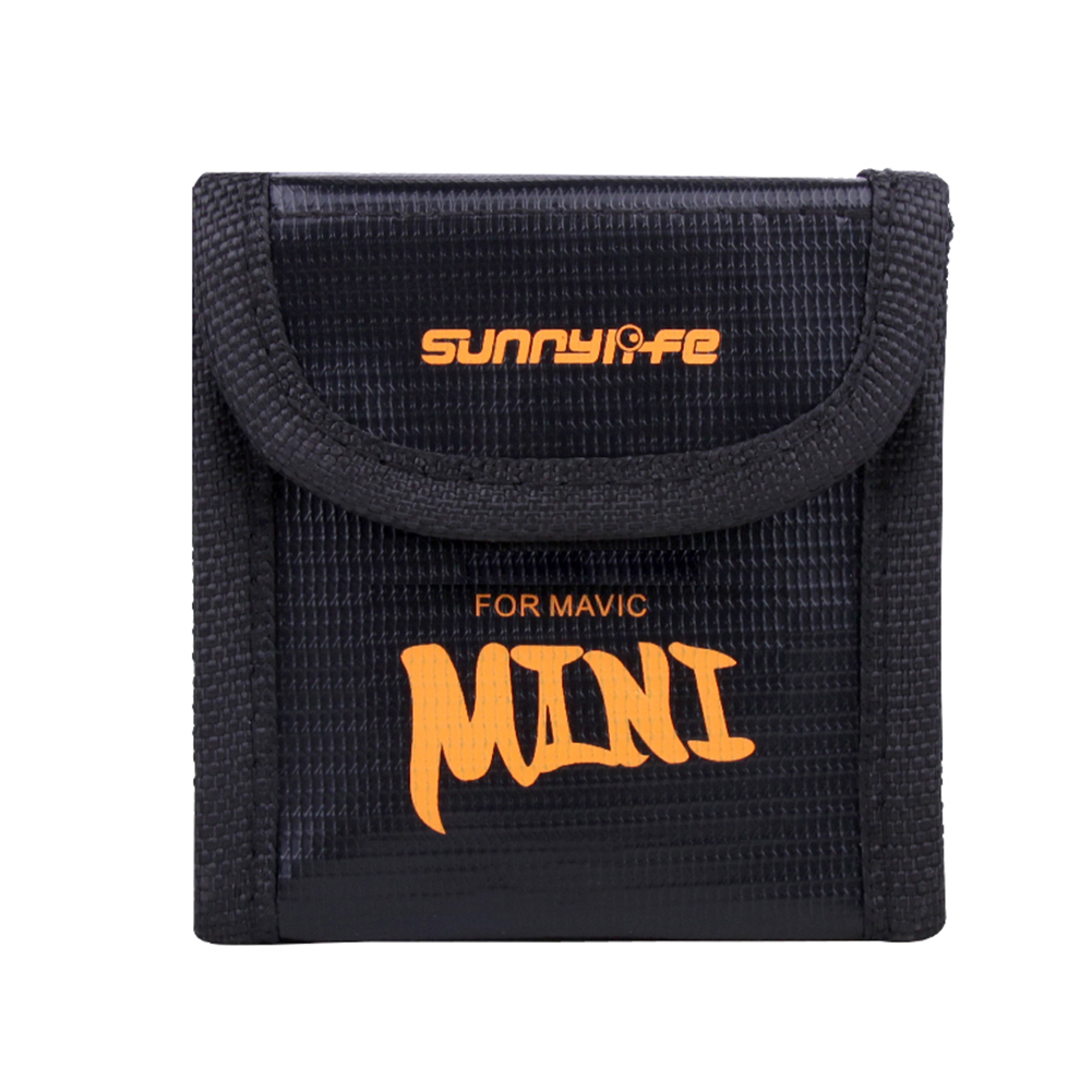 Mini Storage Bag for DJI Mavic Drone Battery Shock-proof Battery Explosion-proof Safety Protective Case  2 batteries bag