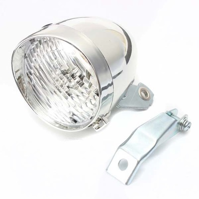 Mountain Bike Retro Headlights 3LED Dead Fly Lights Old-fashioned Bicycle LED Lamp Silver