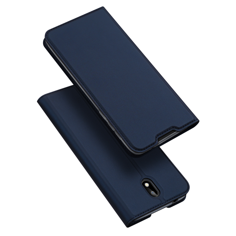 DUX DUCIS For Nokia 1.3 Leather Mobile Phone Cover Magnetic Protective Case Bracket with Cards Slot Royal blue