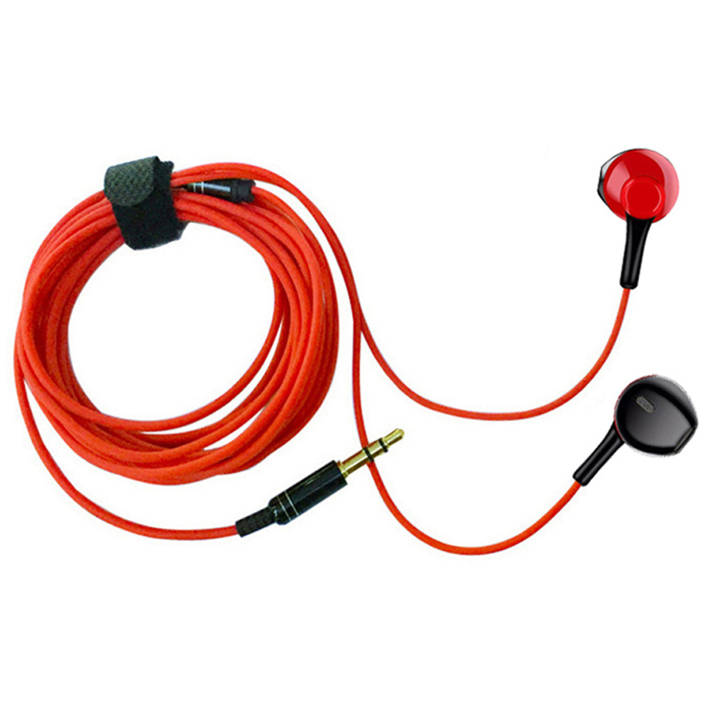 3m Long Earphone Monitor Headset MP3 Subwoofer Ear Pieces Network Anchor Broadcast Live Karaoke Wired Earbuds red