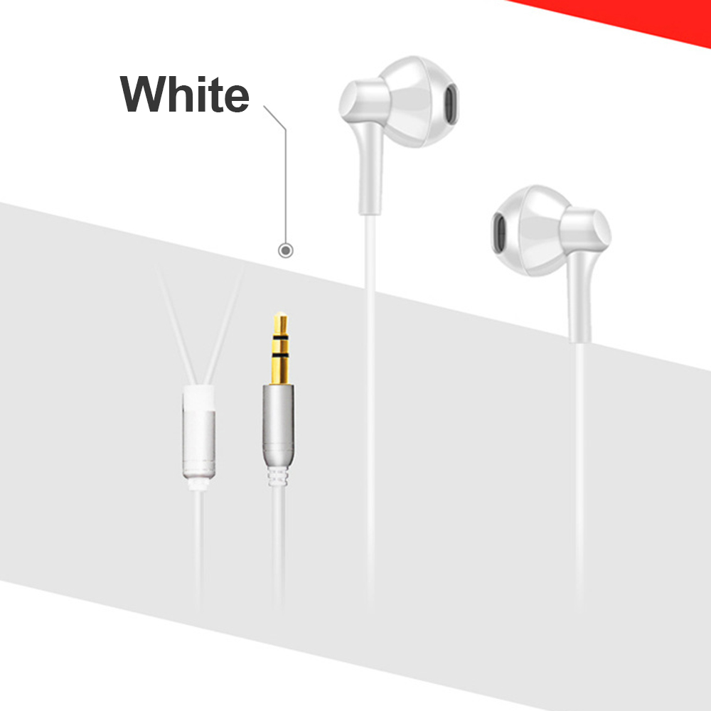 3m Long Earphone Monitor Headset MP3 Subwoofer Ear Pieces Network Anchor Broadcast Live Karaoke Wired Earbuds white