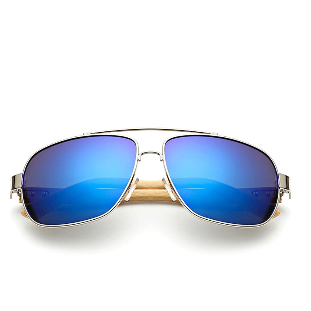 Metal Nose Holder Square Shape Hand Made Bamboo Leg Sunglasses