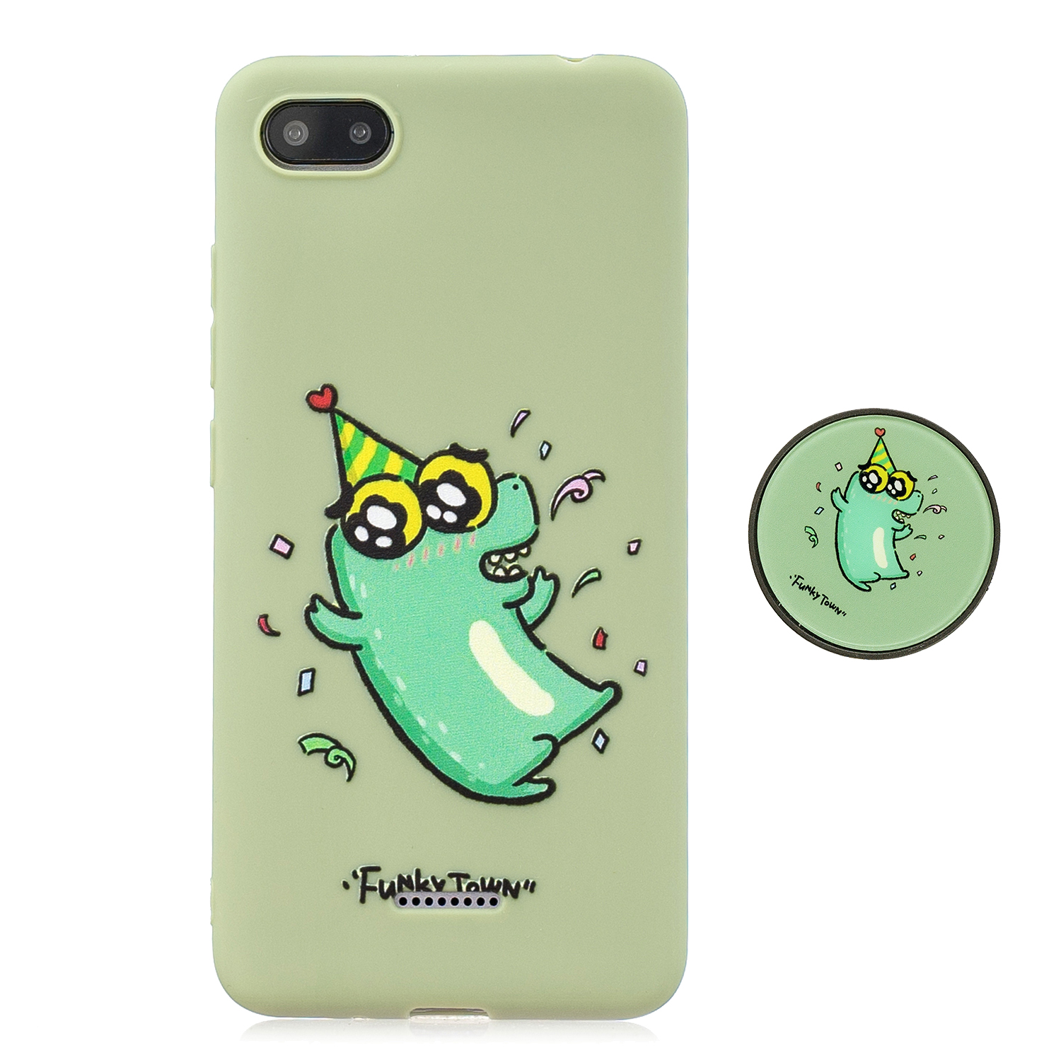 For Redmi 6A Phone Cases TPU Full Cover Cute Cartoon Painted Case Girls Mobile Phone Cover with Matched Pattern Adjustable Bracket 2