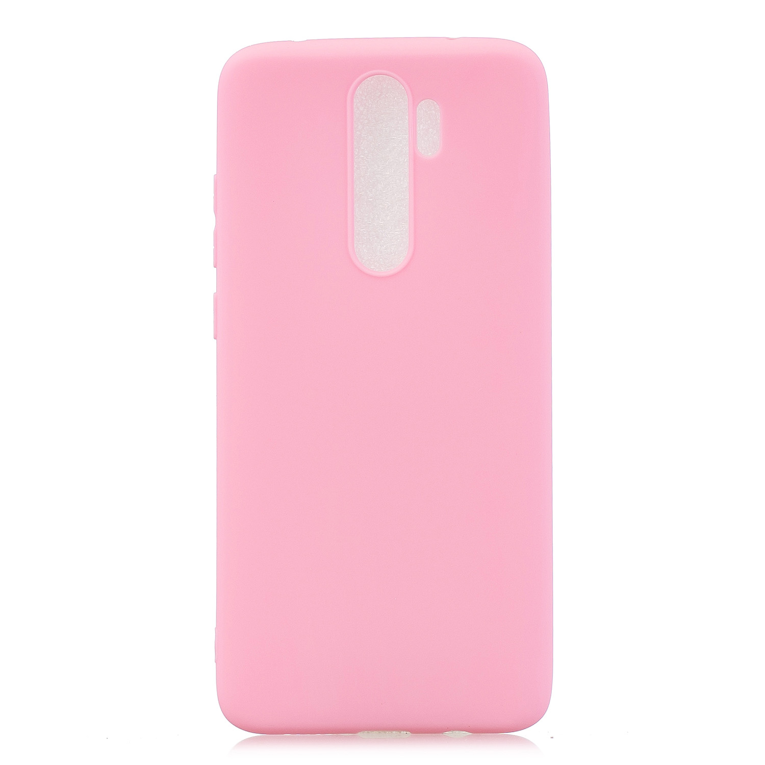 For Redmi NOTE 8 NOTE 8 Pro Soft Candy Color Frosted Surface Shockproof TPU Back Cover Mobile Phone Case dark pink