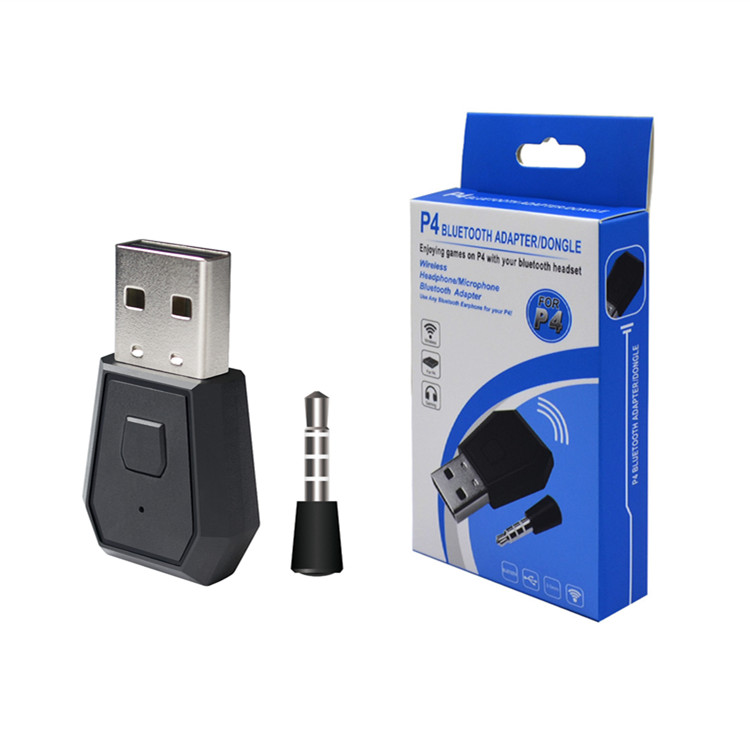 USB Bluetooth Adapter For PS4 Headset Portable Receiver Gampad Stable USB Dongle Bluetooth Adapter Wireless Adapter black