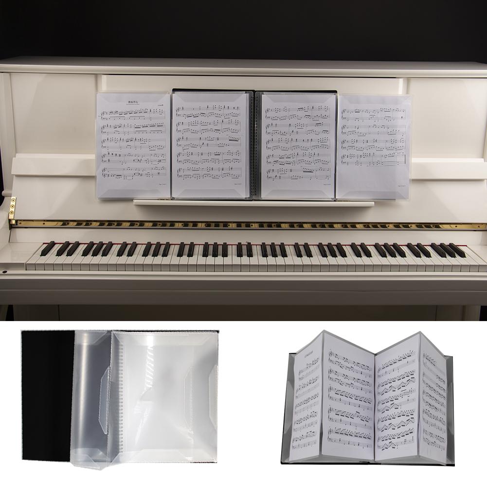 FB-04 Music Score Storage Folder Two Pages A4 Standard Storage Folder black
