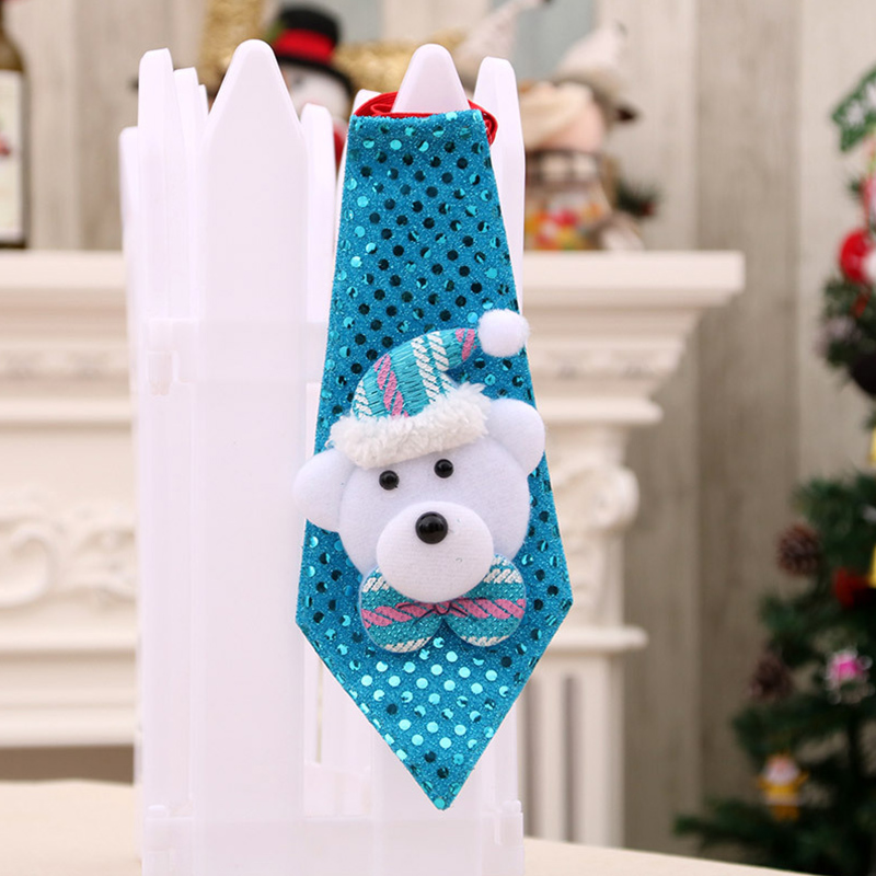 Christmas Xmas Decorations Sequins Light Tie Gifts Bag Filler for Adult Kids Ordinary bear