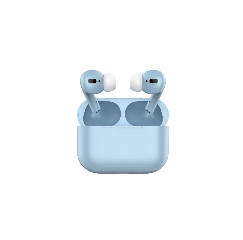 TWS Bluetooth 5.0 Wireless Earphone Macaron Earbuds with Charging Box blue