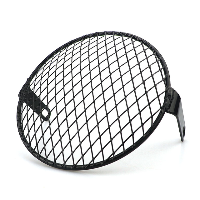 6.5 inch Motorcycle Universal Vintage Headlight Protector Retro Grill Light Lamp Cover Oblique net cover