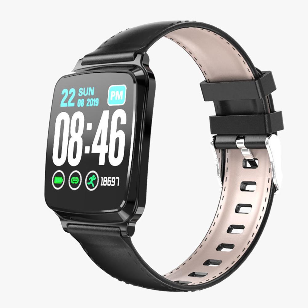 Smart Watch Bracelet Heart Rate Detecting Sports Bracelet Sleep Monitoring Pedometer Black