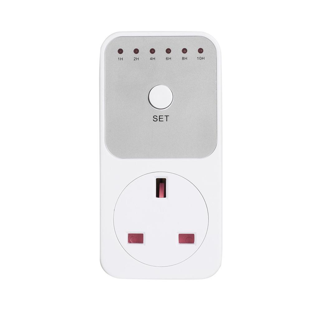 Electronic Components + Hardware + Plastic 1-10 Hour Countdown  Socket Household Countdown Socket British regulatory