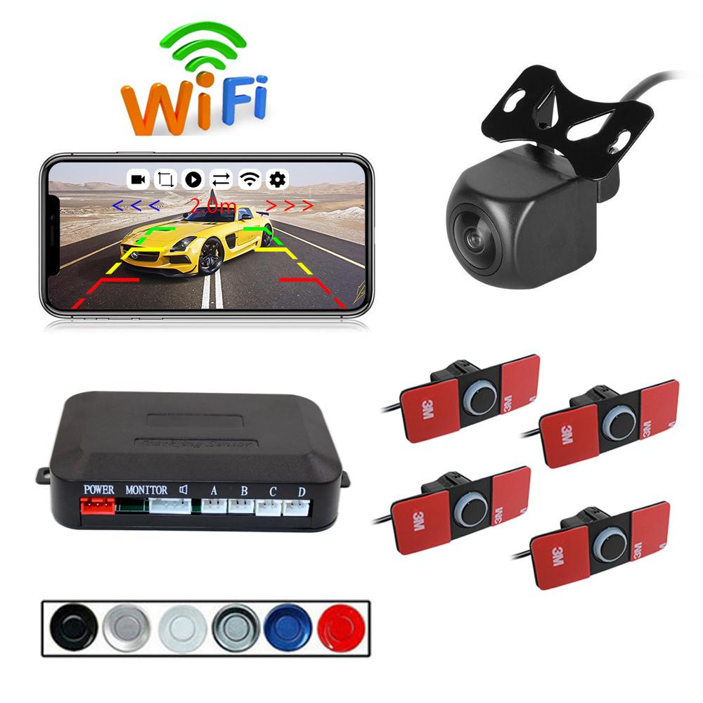 Wireless WIFI Car Rear View Reverse Parking Cam Radar Night Vision PZ600wifi-16.5 Parking camera set black