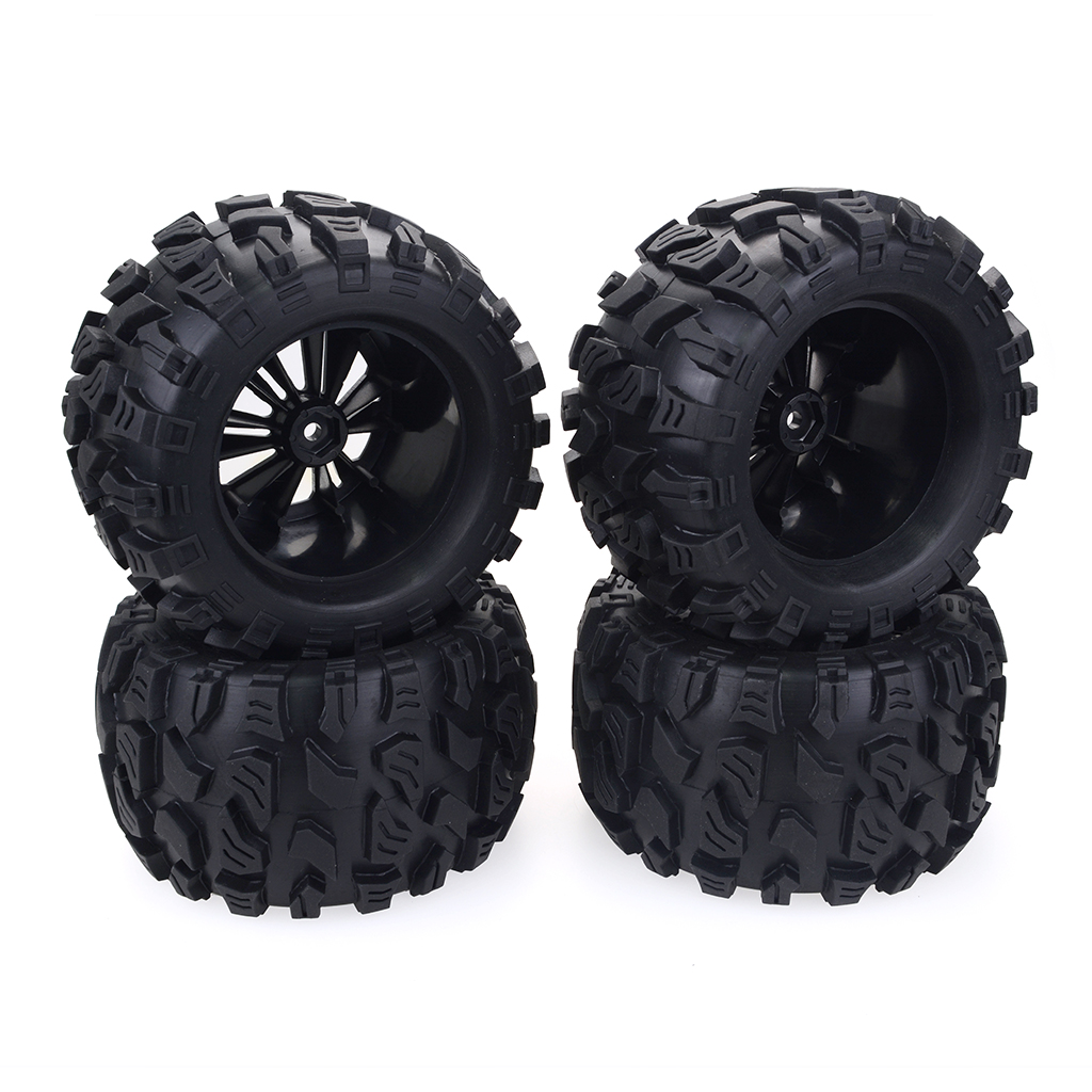 4PCS 1/10  Truck Wheels Tires for HPI HSP Savage XS TM Flux ZD Racing LRP 4PCS