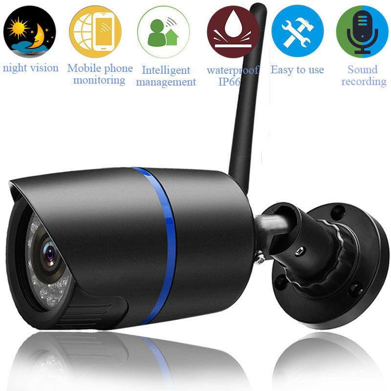 1080P Security Wireless WIFI IP Audio Camera HD IR Outdoor Wireless Camera UK Plug