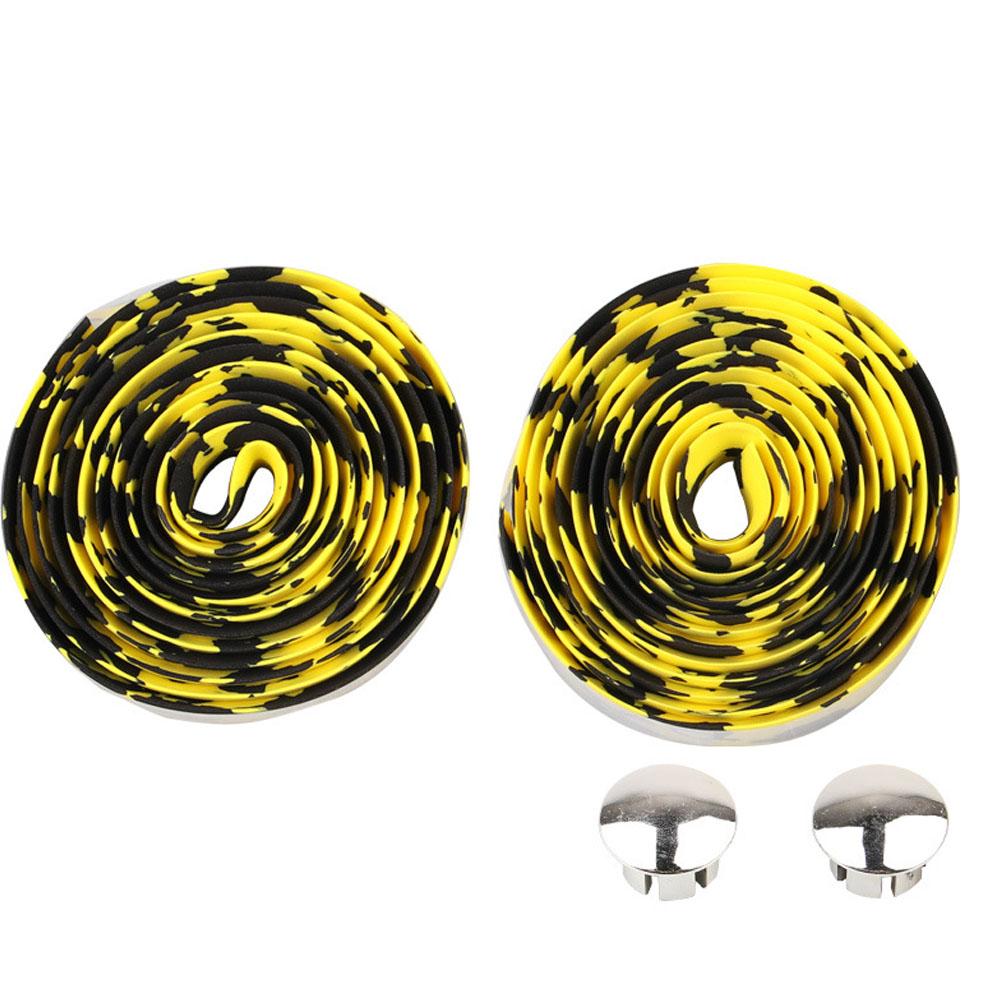 Bicycle Handlebar Tape Steering Wheel Cover Road Bike Cycling Handle Non-slip Belt Rubber Tape Bike Accessories Black yellow
