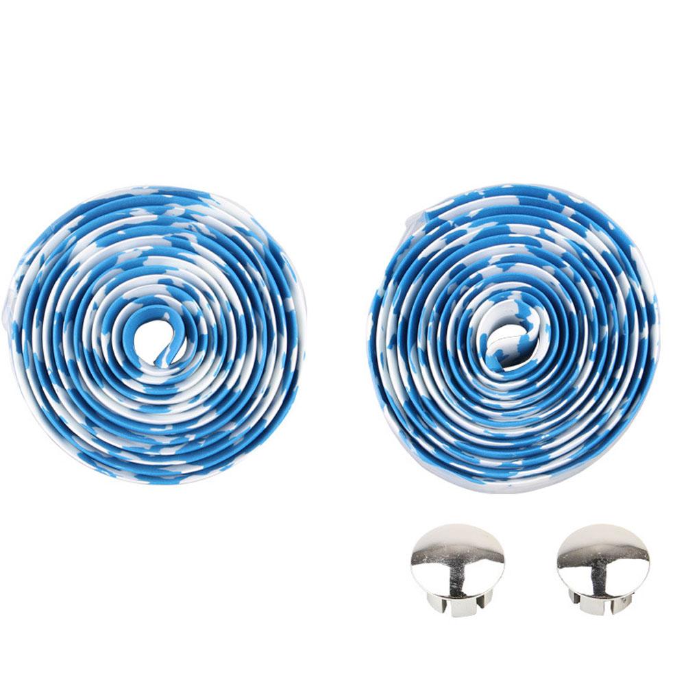 Bicycle Handlebar Tape Steering Wheel Cover Road Bike Cycling Handle Non-slip Belt Rubber Tape Bike Accessories White blue