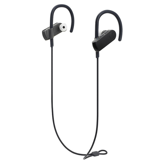 Original Audio Technica ATH-SPORT50BT Bluetooth Earphone Remote Control Wireless Sports Headset IPX5 Waterproof For IOS Android Cellphone Black
