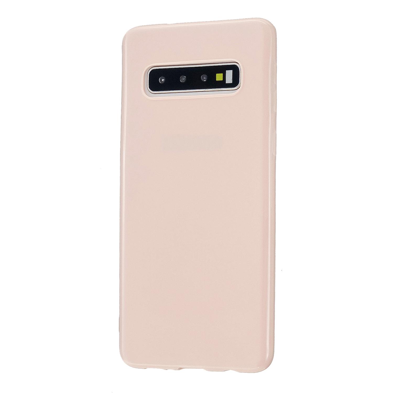 For Samsung S10/S10E/S10 Plus Cellphone Case Precise Cutouts Simple Profile Soft TPU Mobile Phone Shell Sakura pink