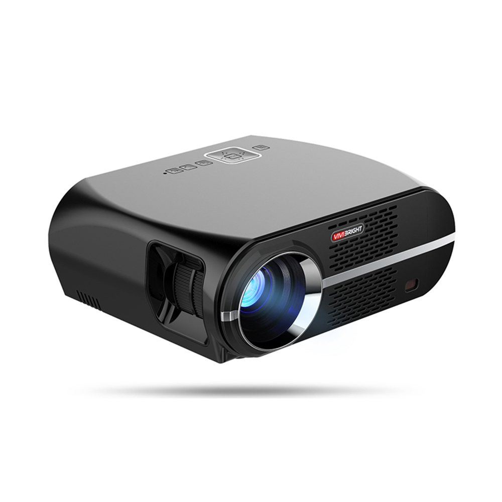 ViviBright GP100 Home Theater Projector 3500 Lumens High Brightness LED Video Projector Beamer 1280*800 For Business black_European regulations