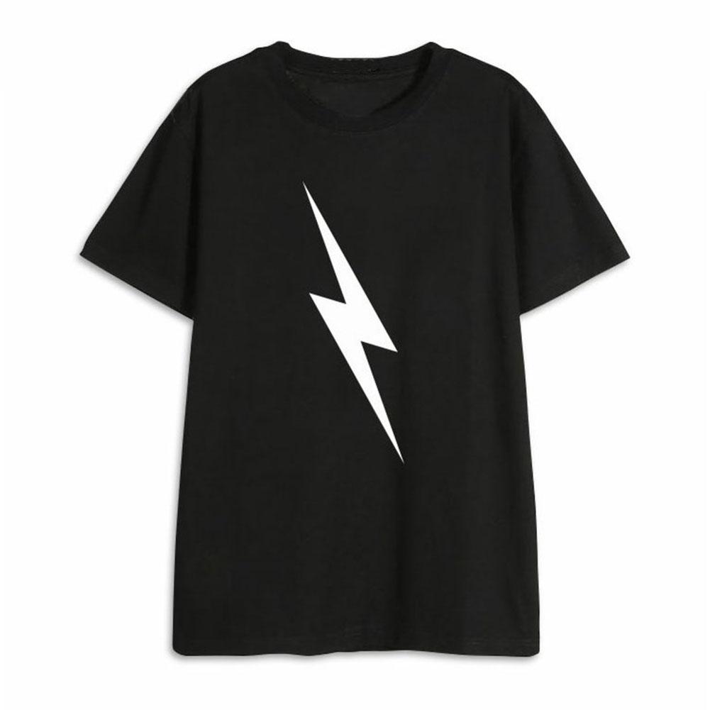 Men Women NCT127 T Shirt Short Sleeve Fashion Student Summer Tops for Couple Lover Black K260#_L