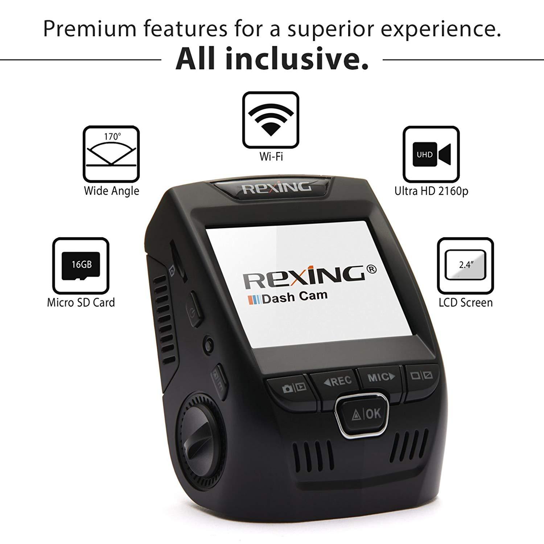 [US Direct] Original REXING V1 3rd Generation 4K UHD WiFi Car Dash Cam 2.4