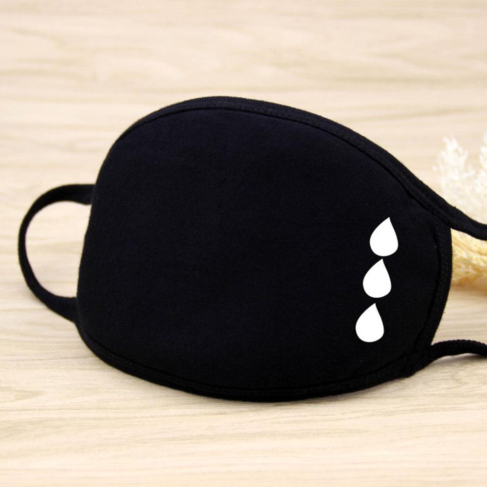 Riding Cotton Mask Dust-proof Facial Mouth Protection Fashion Men Women Black Mask KZ-2009