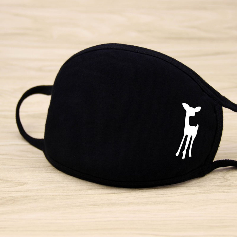 Riding Cotton Mask Dust-proof Facial Mouth Protection Fashion Men Women Black Mask KZ-2018