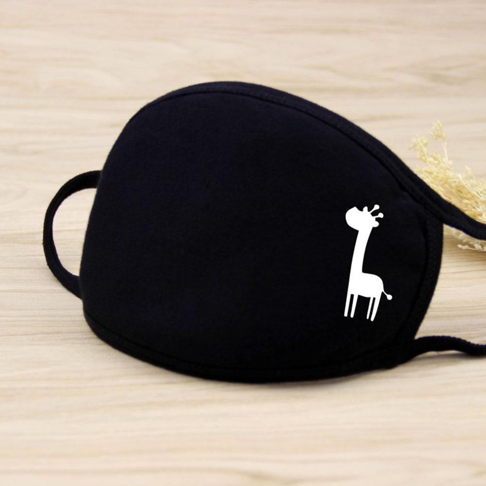 Riding Cotton Mask Dust-proof Facial Mouth Protection Fashion Men Women Black Mask KZ-2019