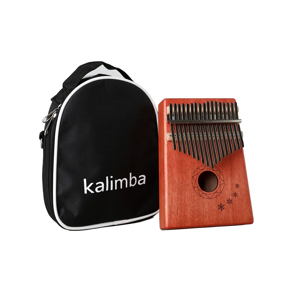 17 Key Kalimba Mbira Calimba African Mahogany Thumb Piano Wood Musical Instrument English version