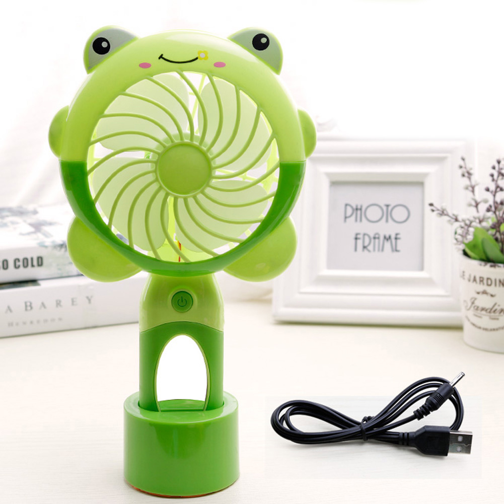 USB Charging Silent Small Fan Portable Handheld Fan for Home Office Student Dormitory green