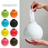 Fashion Bomb Shape Paper Holder Home Decor Paper Pot Toilet Bath Table Tissue Holder Dispenser Box Cover Case (White)
