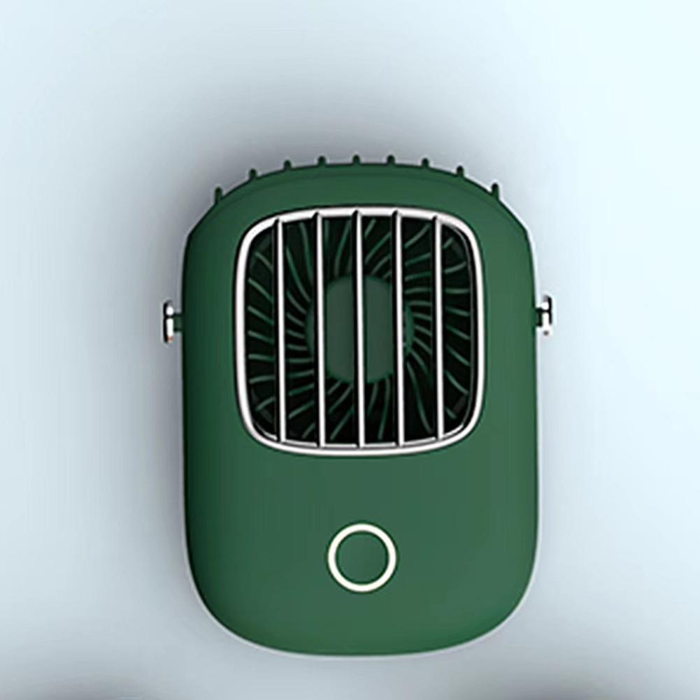 Mini Portable Pocket Fan USB Charging Outdoor Travel Neck Hanging Cooling Fan green_fan