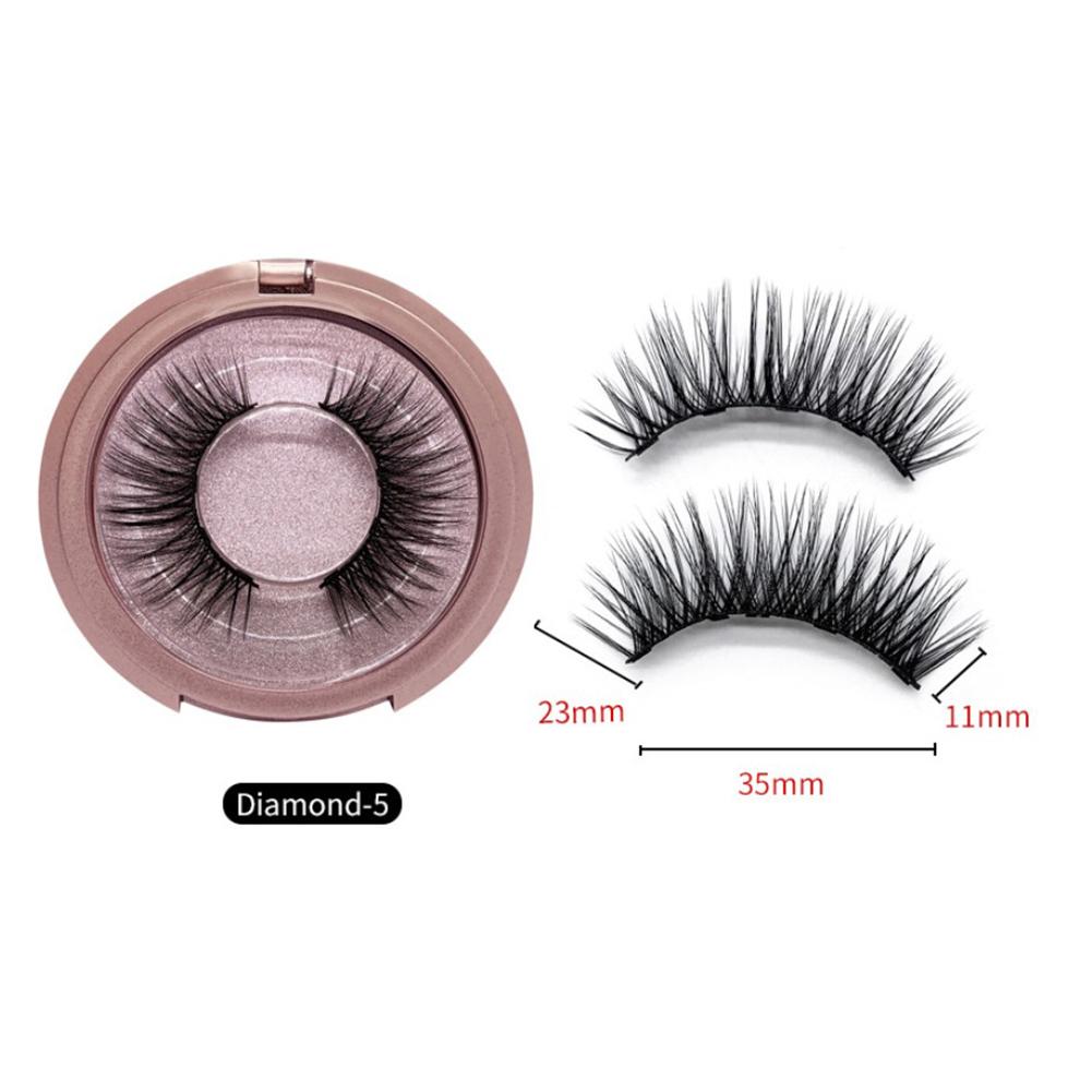 Magnet False Eyelashes Natural Black Handmade 3D Mink Lashes Long Fake Eyelash