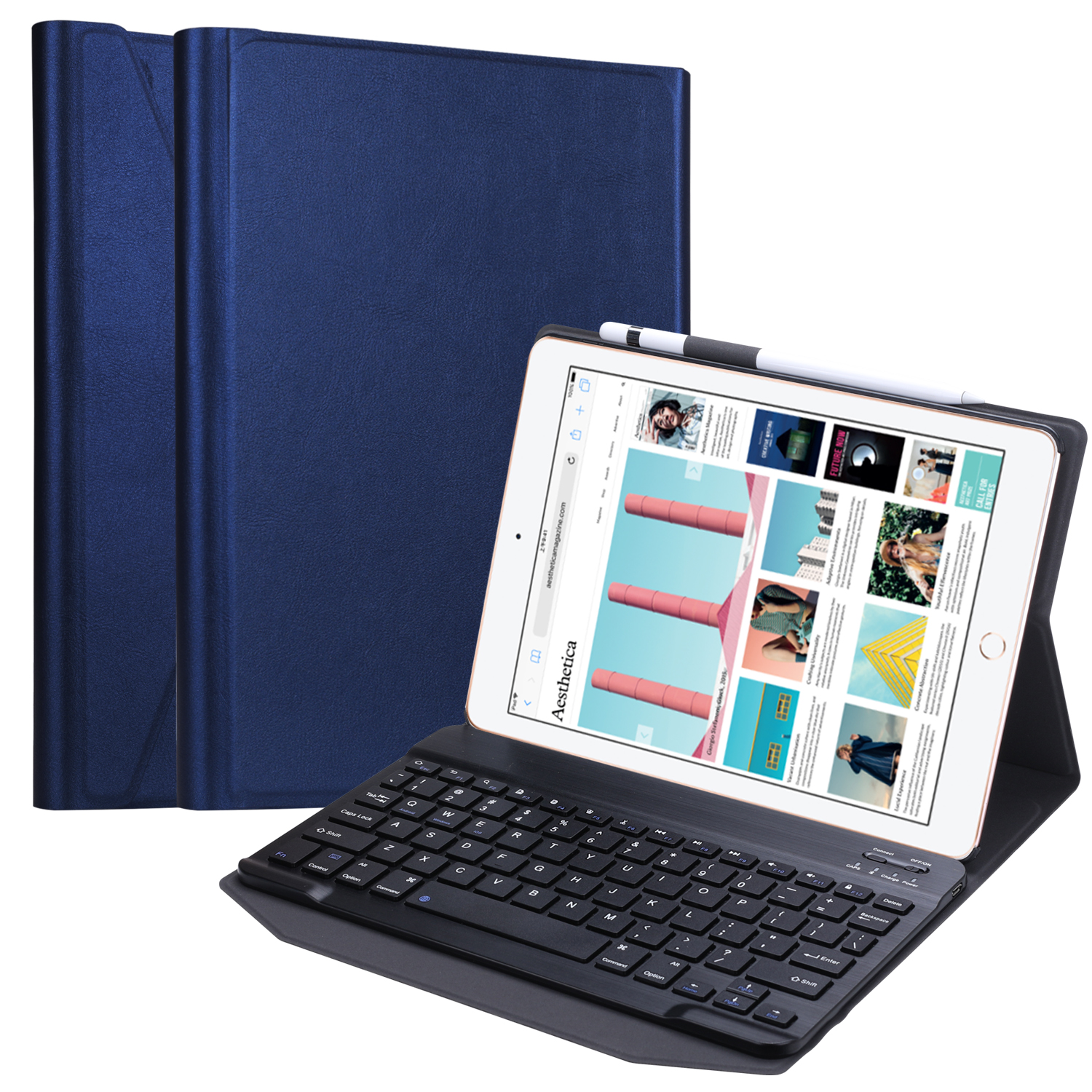 9.7 inch Mini Wireless Keyboard Blue