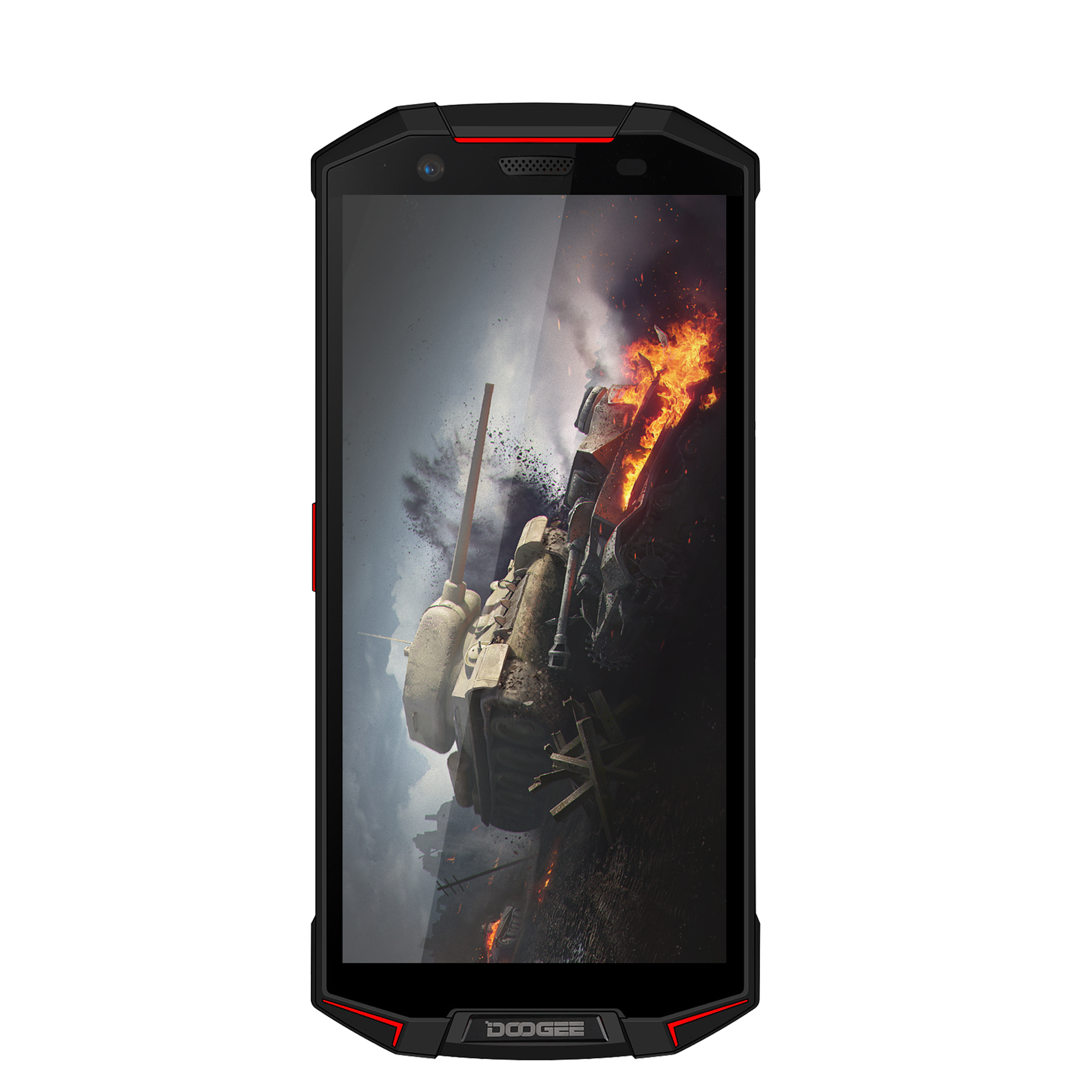 Red DOOGEE S70 Lite Waterproof Mobile Phone Wireless Charge NFC Quick Charge 5.99 Inch Smartphone