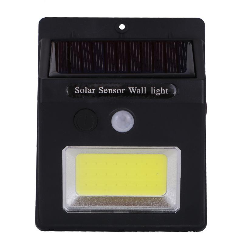COB Solar Power Sensor Wall Light Outdoor Waterproof Street Yard Garden Security Lamp White light