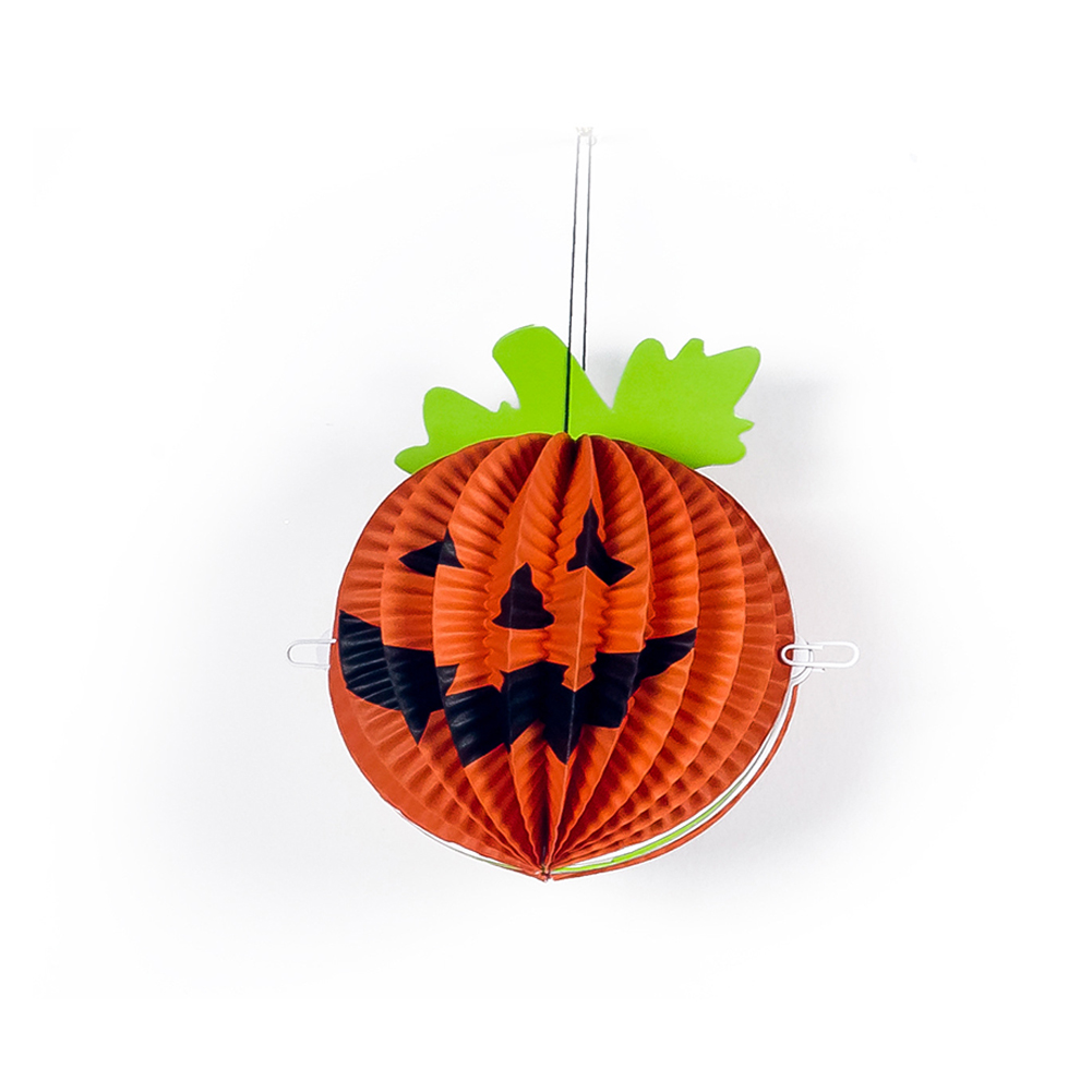 Halloween Paper Spider Pumpkin Shaped Paper Lantern Pendants Halloween Party Decoration Pumpkin
