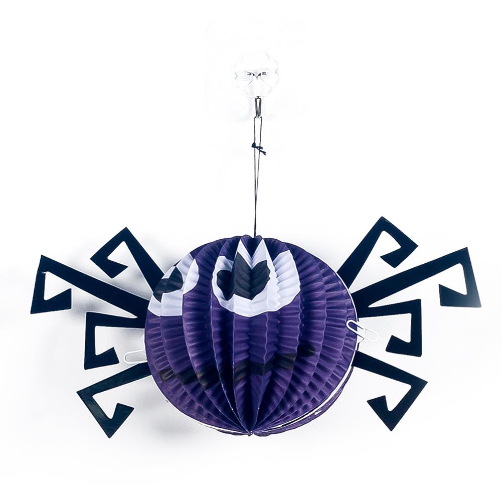 Halloween Paper Spider Pumpkin Shaped Paper Lantern Pendants Halloween Party Decoration Spider