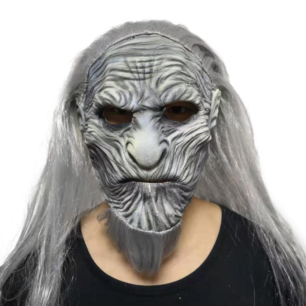 Halloween Mask Night's King Walker Face Night Re Zombie Latex Mask Cosplay Throne Costume Party Mask Little Night King