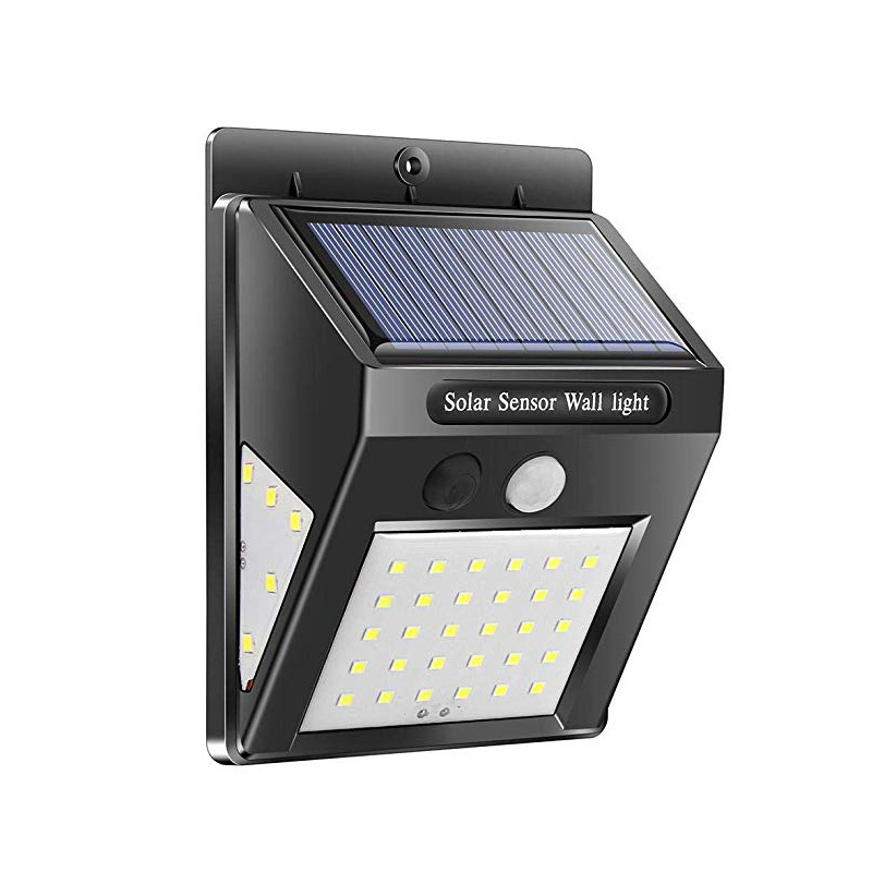 3 Sides LED Solar Power Wall Light Motion Sensor IP65 Waterproof for Outdoor Street Garden Yard Security Lamp 3 sides 30+5+5LED