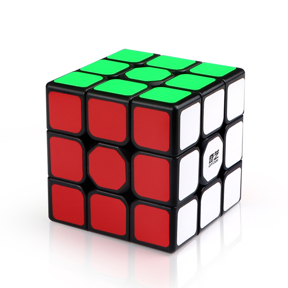 3X3X3 56mm Smooth Magic Cube Stress Reliever Toy black