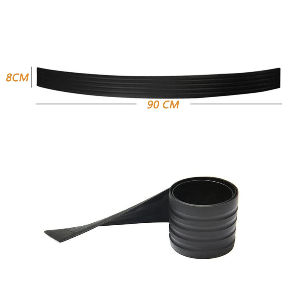 Car SUV Black Crashproof Door Guard Body Bumper Protector Trim Cover  90cm black + double-sided adhesive + adhesion promoter