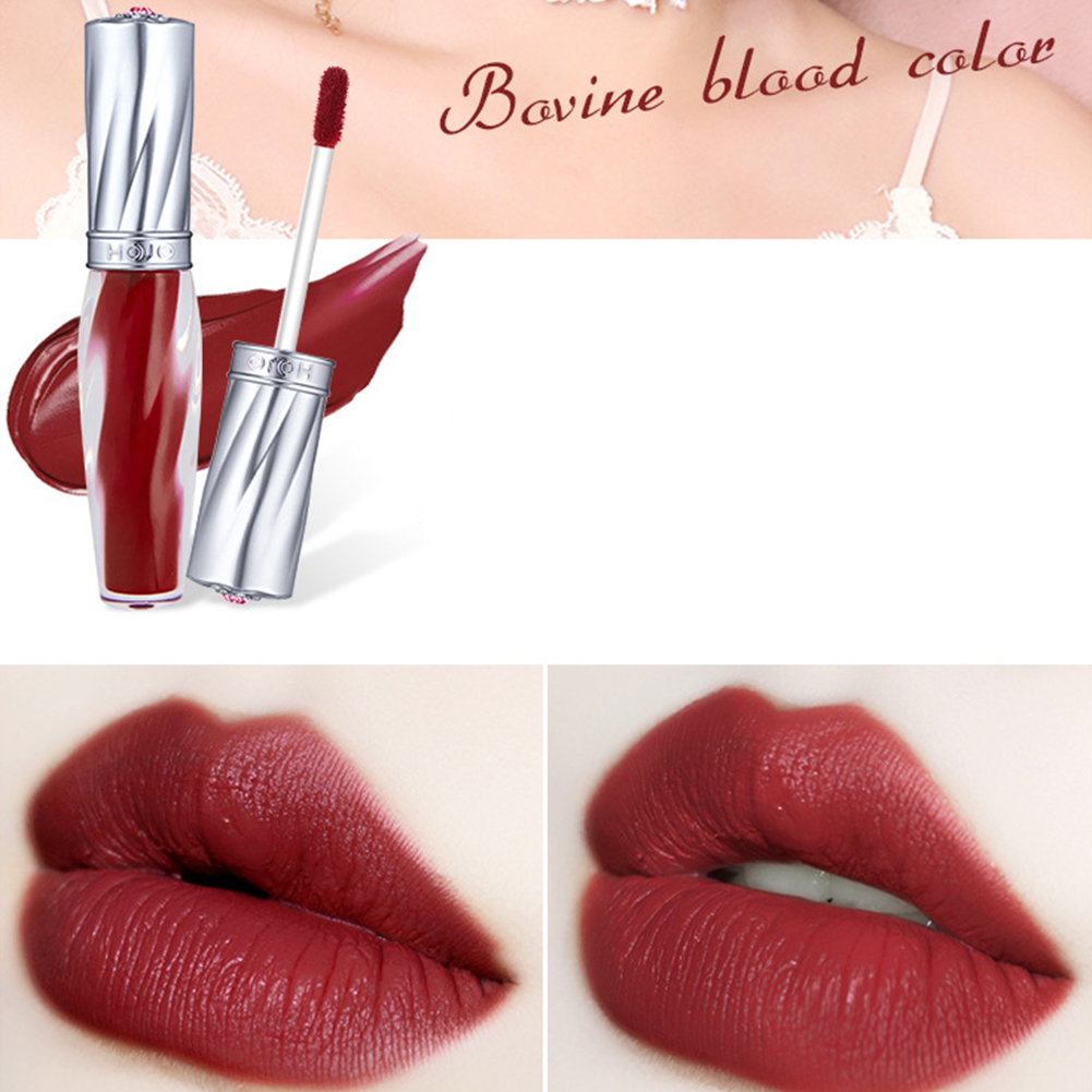 Matte Nude Lip Gloss Waterproof Long Lasting Liquid Lipstick Non-Stick Cup Women Lips Makeup