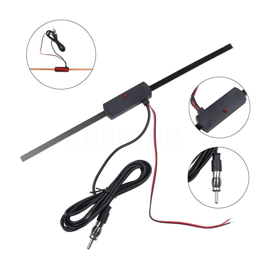 Car Electronic Antenna Amplify FM Signals Windshield FM/AM Radio Antenna