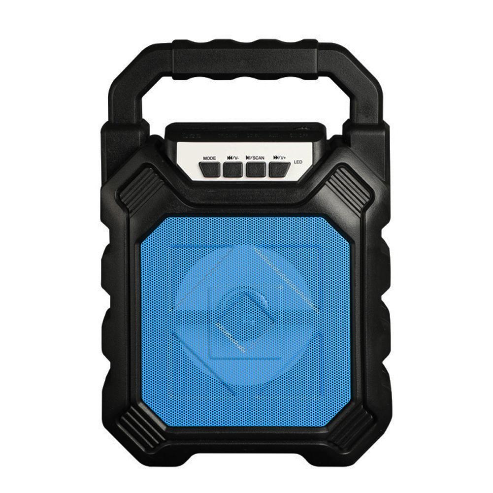 Outdoor Portable Wireless Bluetooth Speaker Can Insert Tf Card Usb Flash Disk High Power Loudspeaker blue