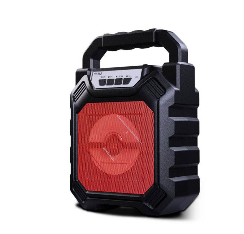 Outdoor Portable Wireless Bluetooth Speaker Can Insert Tf Card Usb Flash Disk High Power Loudspeaker red