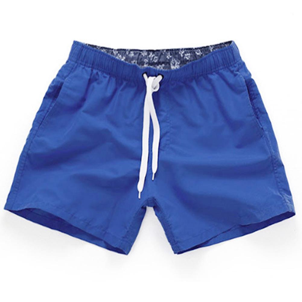 Men Summer Soft Beach Swimming Short Pants royalblue_L