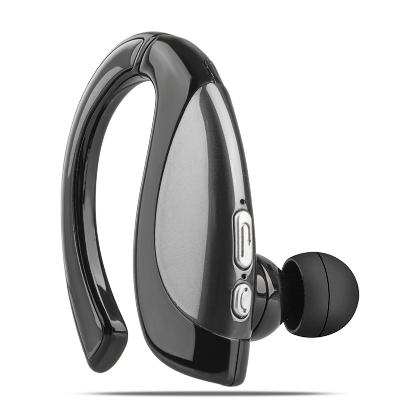 Wireless Business Bluetooth Noise Cancelling Headset Earpiece for Driving gray