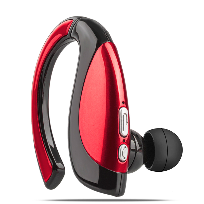 Wireless Business Bluetooth Noise Cancelling Headset Earpiece for Driving red